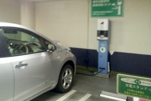 エンゼルパーク駐車場の充電スポット