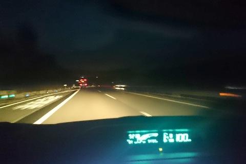 AQUA深夜の走行